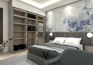 interior kamar tidur pribadi